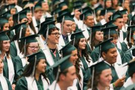 Image of students in graduation gowns