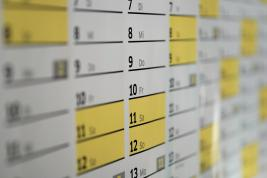 Stock photo of a calendar