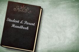 Cover of a book with title: Student & parent handbook